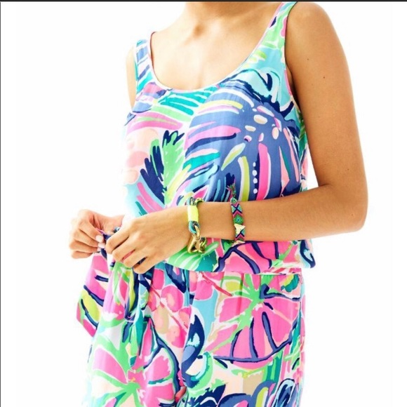 856eb2dce414 Lilly Pulitzer Pants - Lilly Pulitzer Rina Romper in Exotic Garden